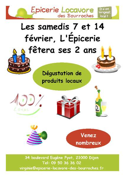 Le Site Des Bio En Bourgogne Bon Anniversaire à Lepicerie Locavore